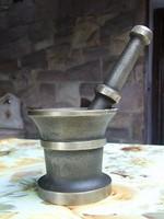 Különleges feliratos rézmozsár-ritka forma