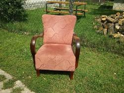 Szép állapotú régi art deco rugós fotel eladó