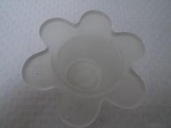 Mécsestartó - vastag tejüveg  11 x 6 cm hibátlan.