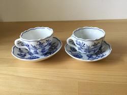 Meisseni porcelán csészék tányérral