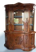 Barokk vitrines tálalószekrény