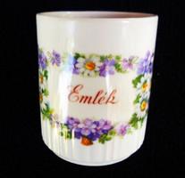Zsolnay antik ibolyás emlék csésze