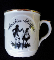 Árnyképes Mozart tejeskávé csésze 2.