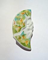 Seltmann Weiden színes hullámos porcelán bross