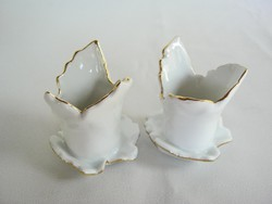 Aquincumi porcelán gyertyatartó pár