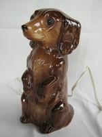 Tacskó kutya német porcelán lámpa