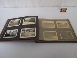 Régi Osztrák fényképalbum jórészt tájképekkel 28 x 20 x 2 cm