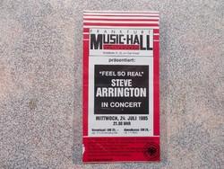 Belepesi jegy,Steve Arrington concert,1985