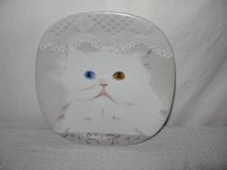 Porcelán -  JELZETT -  szép hibátlan tányér 20 x 20 cm