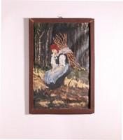 Rőzsés asszony festmény