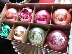 Régi orosz karácsonyfadísz gömbök + ajándék !!!