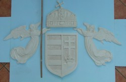 Magyar címer angyalokkal - hatalmas
