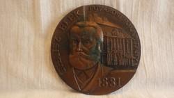Thaisz Elek Fővárosi Főkapitány bronz plakett 11 cm 403 gramm
