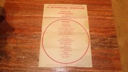 A Homérosz énekkar hangversenye 1970 plakát