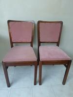2 db régi fa szék együtt