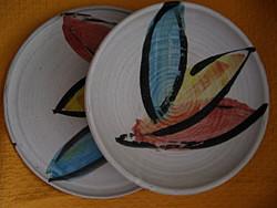 Angol különlegeség, művészeti stúdió retro tányér pár