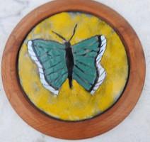 Pillangó  - lepke vastag fakeretben - tűzzománc kép