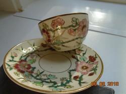 """Zsolnay ritka """"perzsa mintás"""" mintás aranykontúrozott dombor zománc majolika kávés csésze alátéttel"""