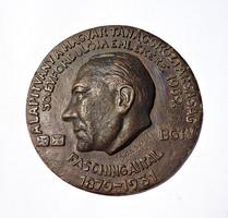Borsodi éremművész 1969 Fasching Antal plakett.