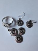 Ezüst gyűrű, kézműves, KÜLÖNLEGES szett!!!!!!!!!!!!!!!!!!!!