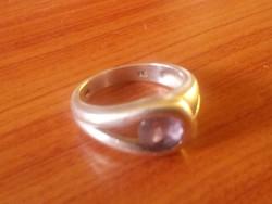 Ezüst gyűrű ametiszt kővel