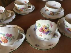 Hüttl Tivadar kávés, 6 csésze aljjal, ritkaság