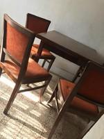 Art deco stílusú étkező garnitúra (asztal +4 szék)
