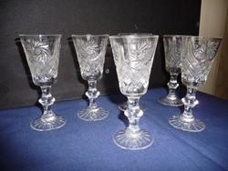Kristály pohár készlet (likőrös)