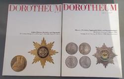 Dorotheum kitüntetés, érem, régi pénz katalógus