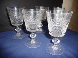 Kristály pohár készlet (boros)