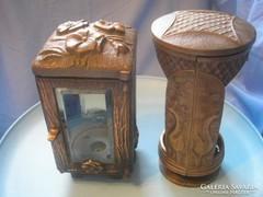 U9 Antik bronz pávás urnatartó szecessziós ritkaság +1 virágmintás külön külön is leárazva