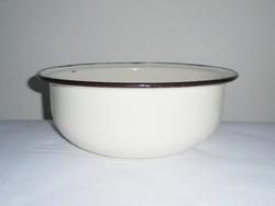 Zománcozott óvodai levesestál leveses tál - 29.5 cm átmérő