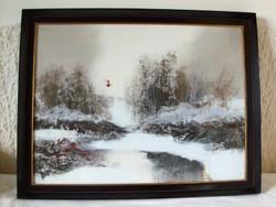 Balogh Ervin festménye.  Olaj/fa.  80 x 60 cm
