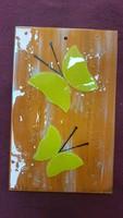 Üveg falikép . Pillangók