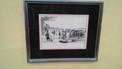 Pest ostroma Budáról 1849  (litográfia)