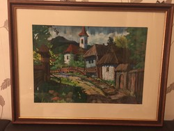 Máthé András akvarell