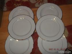 Kínai lapos tányér 6 darab 22 cm