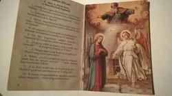 Szentolvasó Rózsafüzér,36 lapos,ritka képes kis imakönyv!