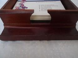 Fa - boríték - levélpapír tartó keményfa doboz, 17 x 16 x 7 cm exkluzív - elegáns