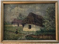Perlmutter Imre - Falusi tájkép