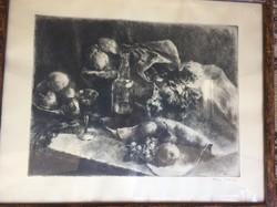 Kiss Terézia grafika Csendélet