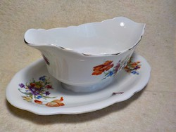 Zsolnay porcelán szószos tál