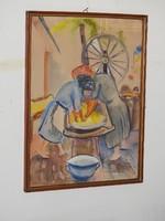 KELEMEN EMIL BUDAPEST, 1895 - 1975, NEW YORK híres festőművész akvarellje