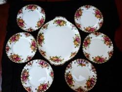 Royal Albert OLD COUNTRY ROSES süteményes készlet