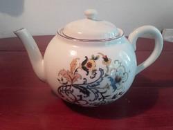 Különösen ritka szecessziós mintájú Zsolnay porcelán teás kanna,tea kiöntő,kancsó