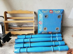 Pingált asztal darabok parasztház felszámolás utolsó darabjainak egyike