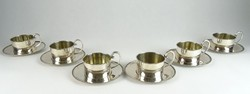 0S234 Antik 800-as ezüst teáskészlet 1232g