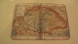 TÉRKÉPGYŰJTŐK !---Régi térkép---Magyarország hely-és vízrajzi térképe.(Greenwich-től))