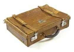 0R768 Régi kisméretű bőr koffer bőrönd