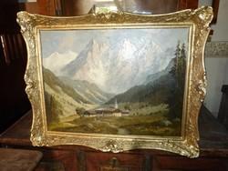 Alpesi hegyek - Wegener festmény